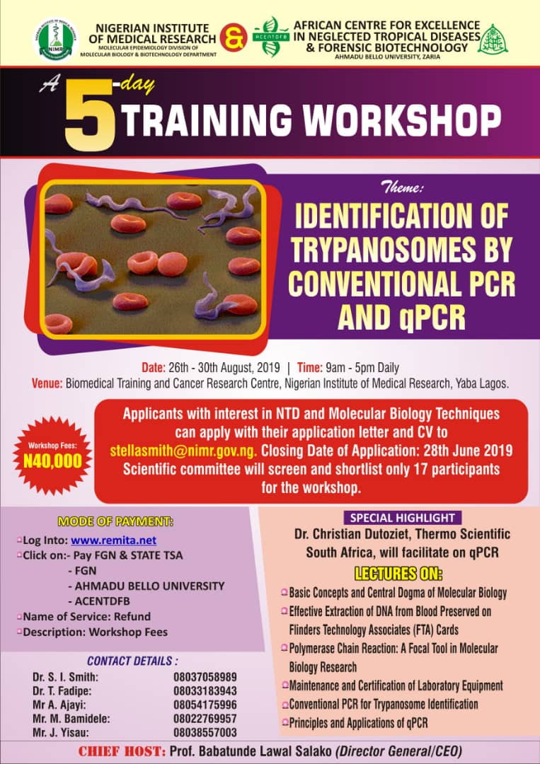 5-Day Training Workshop – The Nigerian Institute Of Medical